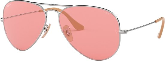 13ac574017d65b Ray-Ban Aviator Large Metal Pink Zonnebril 0RB3025 9065V7 55 - Zilver