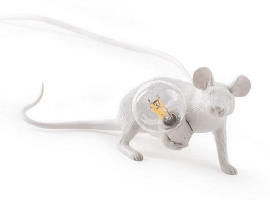 Seletti Mouse liggend wit