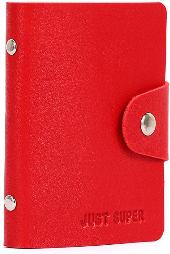 1168a8c5a8f bol.com | Kunstlederen Creditcard houder / Wallet - Pasjes Case - Rood