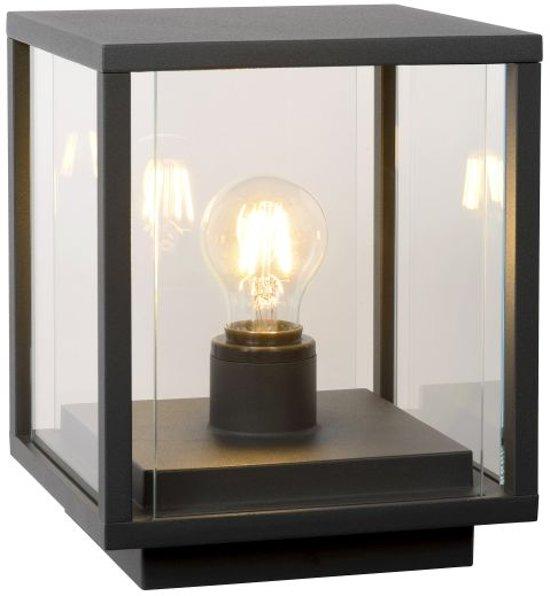 Lucide CLAIRE - Sokkellamp Buiten - E27 - IP54 - Antraciet