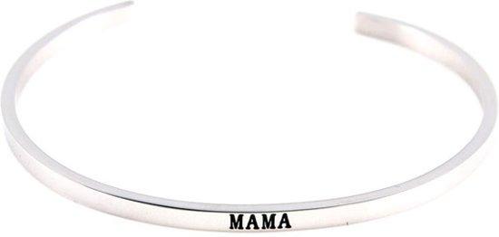 Uitzonderlijk bol.com | Verzilverde bangle armband Mama - cadeau voor vrouw #RK77