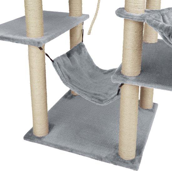 TecTake - Krabpaal Lilou grijs 165 cm - 402931