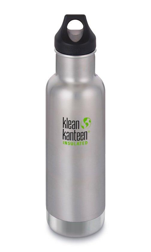 Klean Kanteen Classic Vacuum Insulated Drinkfles met Loop Cap 592 ml zilver