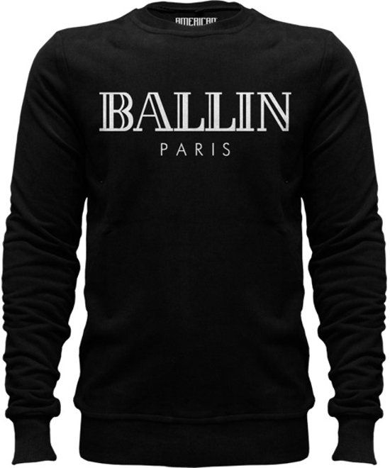 Zwarte Trui Met Goud.Bol Com Ballin Sweater Zwart M