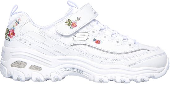 Skechers D'Lites Lil Blossom Sneakers Maat 34 Meisjes witrozeblauwgroen