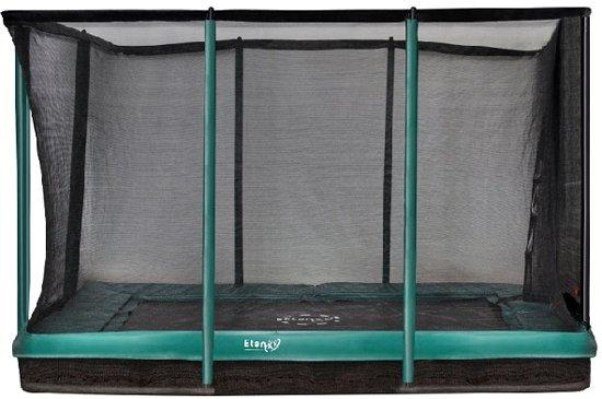 Etan Inground Premium Gold Combi Trampoline set  310 x 232 cm - inc. Veiligheidsnet - Grijs - Rechthoekig