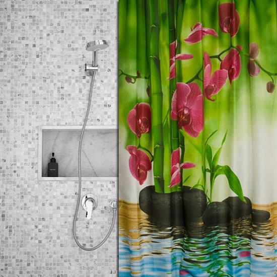 Roomture - douchegordijn - Peaceful Flower  - 180 x 200