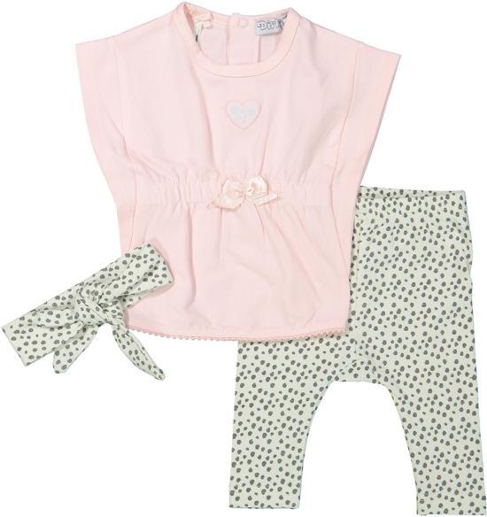 3baa1f9854baa6 bol.com   Dirkje Meisjes Kledingset - Light pink + mint/grey aop ...