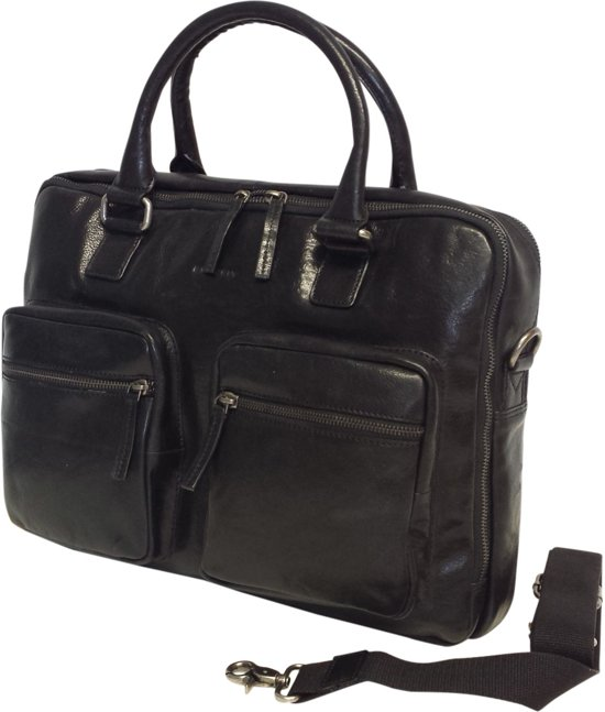 ed41b0ab699 bol.com   BURKELY Business Mens Bag / Laptop Bag Ivan zwart
