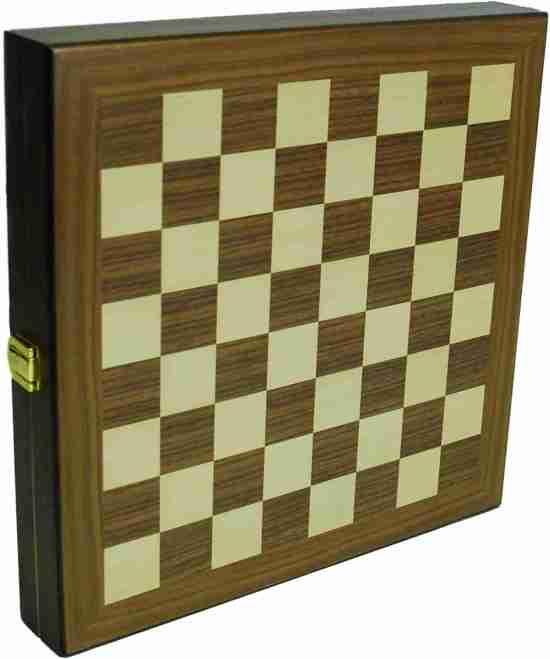 Hot sports Schaak-dam-backgammon klapcassette hout 29x29