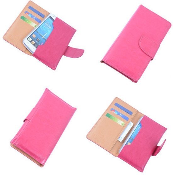 f6f87706337 Samsung Galaxy S5 mini Portemonnee Hoesje Roze - Book Case Wallet Cover Hoes