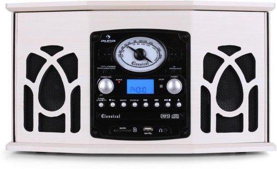 Auna NR-620 Retro Platenspeler 6 in 1 Creme