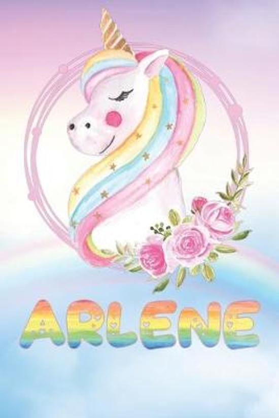 Arlene: Arlene's Unicorn Personal Custom Named Diary Planner Perpetual Calander Notebook Journal 6x9 Personalized Customized G