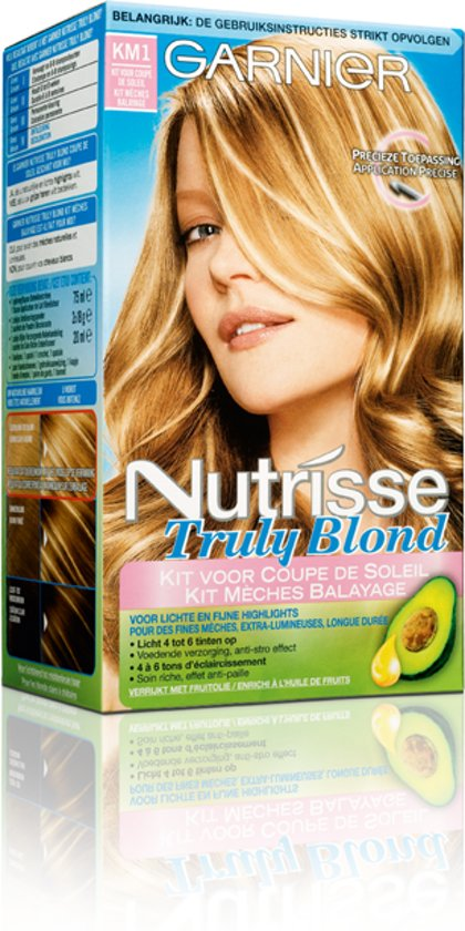 garnier nutrisse km1 truly blond highlights kit m ches balayage. Black Bedroom Furniture Sets. Home Design Ideas