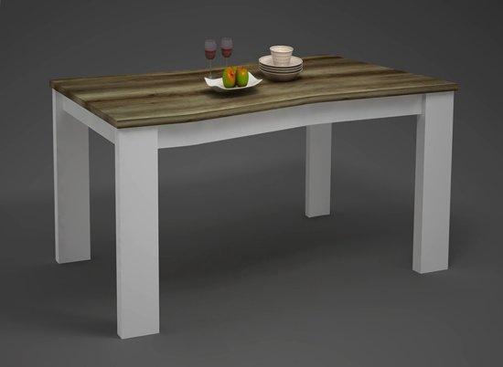 Uitschuifbare Eettafel White Wash.Landelijke Eetkamertafel White Wash Coventry 160 Cm