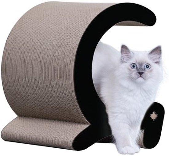 Canadiancat company krabplank seashell zwart / wit 30x30x36 cm