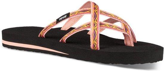 Teva Olowahu teenslippers dames zwart/roze