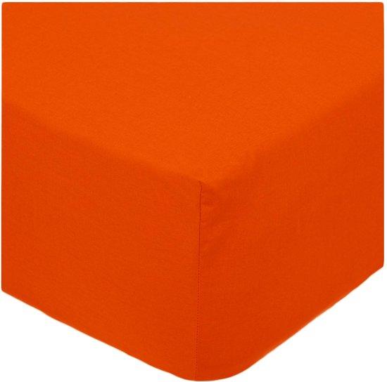 Senzatione Katoen Percaline Normale Hoeslaken 140x200+30 cm ORANJE