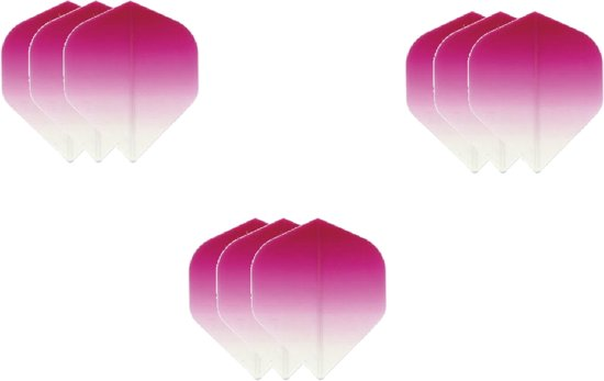 Dragon darts - Super Sterke Fade Top Roze - flights – 3 sets - dart flights - darts flights
