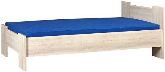 BEUK Bedframe 180X220 cm - Incl. Middenbalk - Licht Hout - Wouw - incl lattenbodem