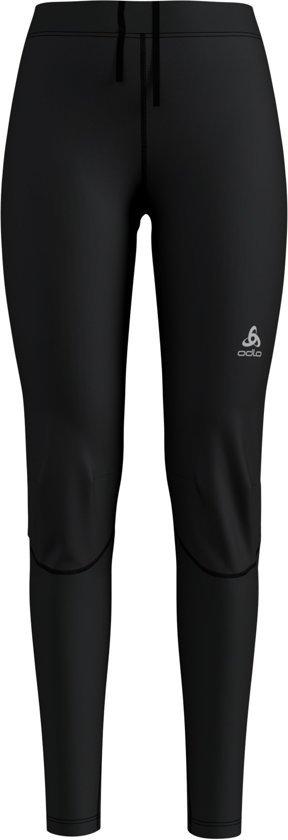 Odlo Tights Zeroweight Windproof Warm Dames Sportbroek - Black-Reflective Print - Maat XS