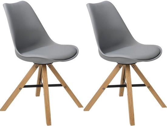 Bol.com butik living stoel consilium trent grijs set van 2