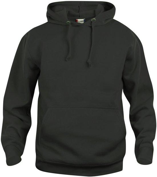 Basic hoody zwart xxl