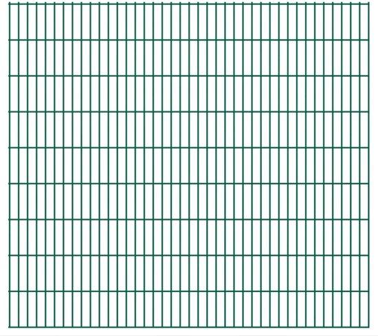 vidaXL Dubbelstaafmatten 2008 x 1830mm 28m Groen 14 stuks