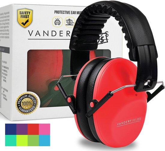 Vanderfields Gehoorbescherming voor KinGehoorbescherming voor kinderen - Oorkap kind gehoorbeschermer earmuffs - Oorkappen inclusief 2 jaar garantie - Rood