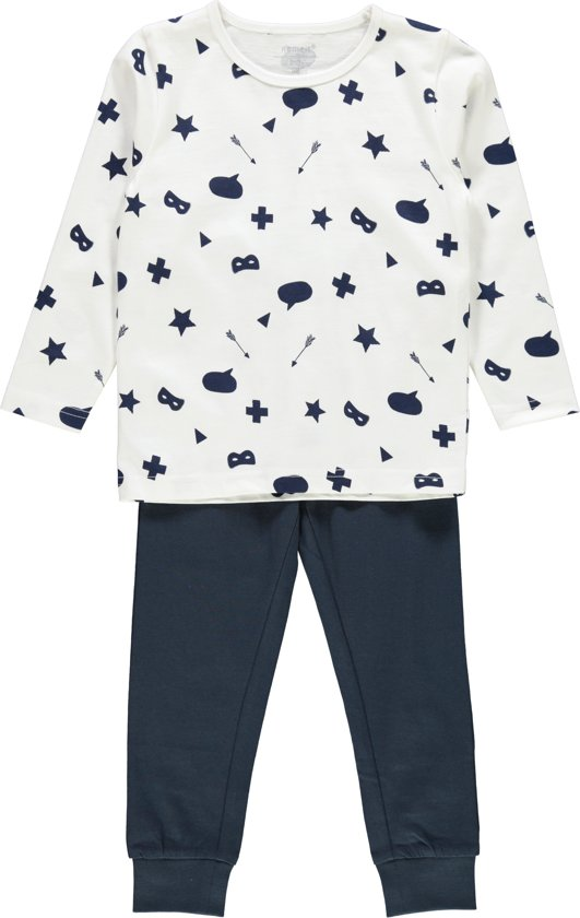 Name it Jongens Pyjamaset - BrightWh. - maat 104