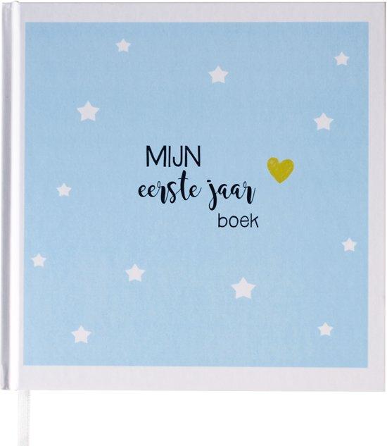 Babyboek eerste jaar blauw - Maan Amsterdam