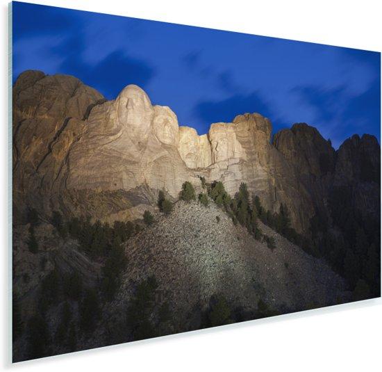 De Noord-Amerikaanse Mount Rushmore in het donker Plexiglas 30x20 cm - klein - Foto print op Glas (Plexiglas wanddecoratie)