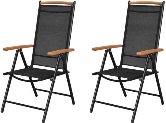 Bol inklapbare aluminium stoel met armleuning set stuks