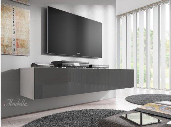 Meubella Tv Meubel Flame Grijs Wit 160 Cm