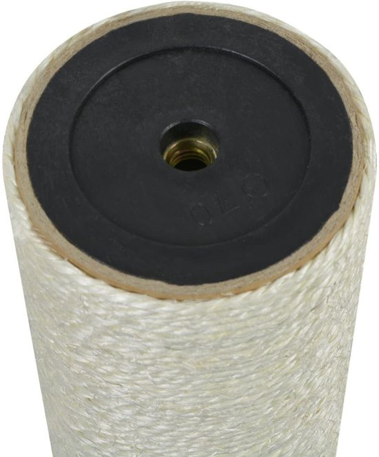 vidaXL Kattenkrabpaal 8x55 cm 10 mm beige