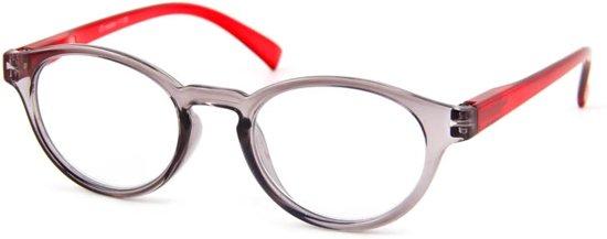 Leesbril iZi reader 09 grijs rood-+2.50