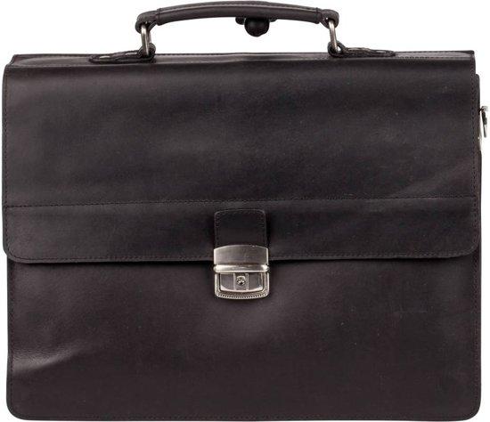 402eb8b5d96 Burkely Vintage Dean Briefcase Aktetas - Zwart
