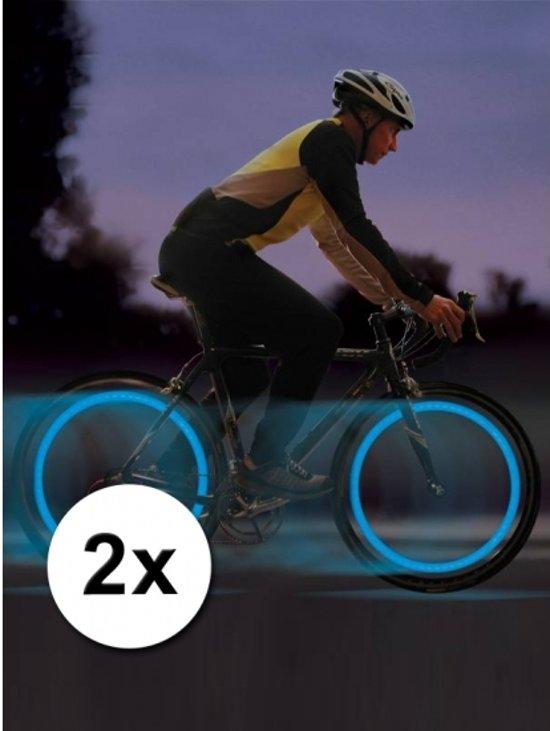 fiets ventiel verlichting wiel led lampjes blauw 2 stuks