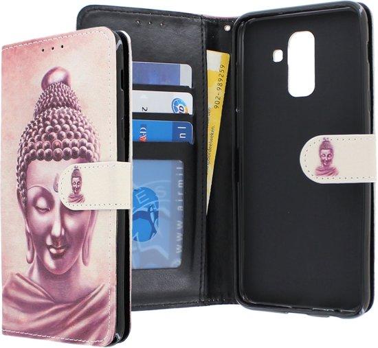 Samsung Galaxy A6+ 2018 hoesje - CaseBoutique - Boeddha print - Kunstleer