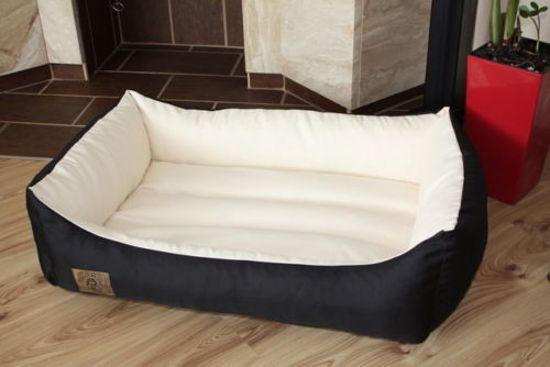 XXL Hondenbed van kunstleer - hondenkussen hondensofa kattenbed hondenkorf - waterdicht 90 X 60 cm