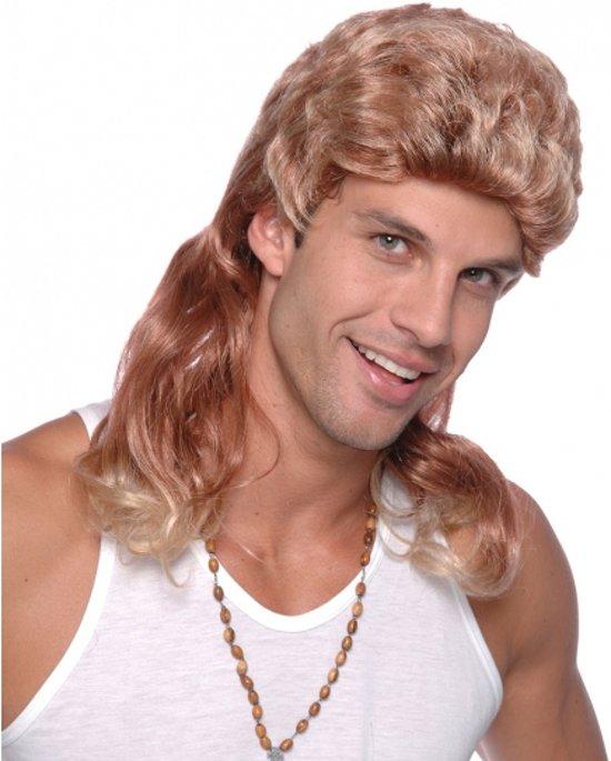 Blonde pruik met lange mat