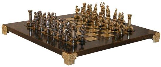Griek Romeinse Schaak Set, thematisch schaakspel op prachtig bord