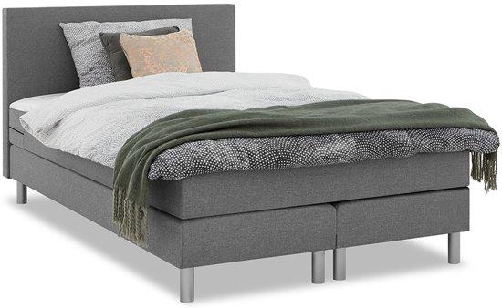 beter bed basic ambra boxspring lichtgrijs 120 x 200 cm. Black Bedroom Furniture Sets. Home Design Ideas