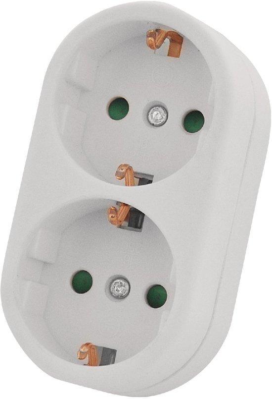 Geliefde bol.com | Stopcontact Splitter - Wit - Verticaal - Randaarde KB55