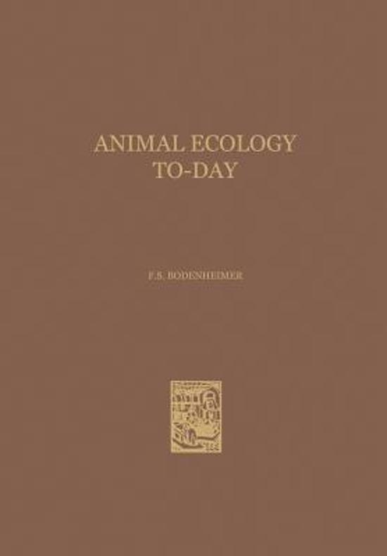 Animal Ecology To-Day