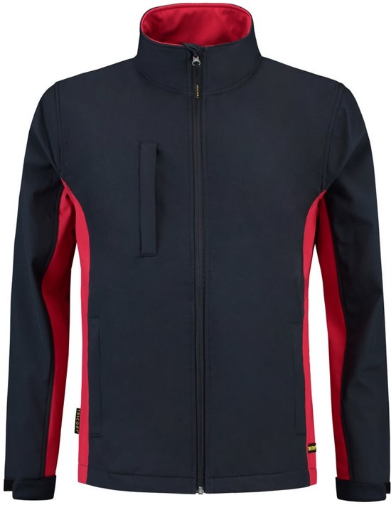 Tricorp Soft Shell Jack Bi-Color - Workwear - 402002 - Navy-Rood - maat 4XL