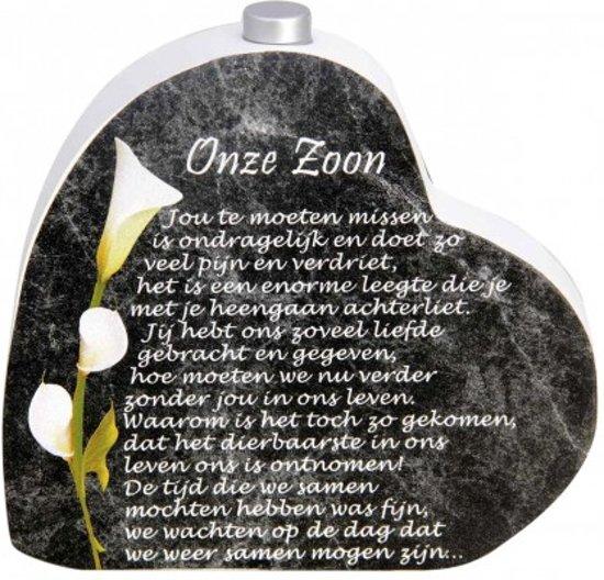 In Memoriam Hart Met Asbuisje En Gedicht Onze Zoon