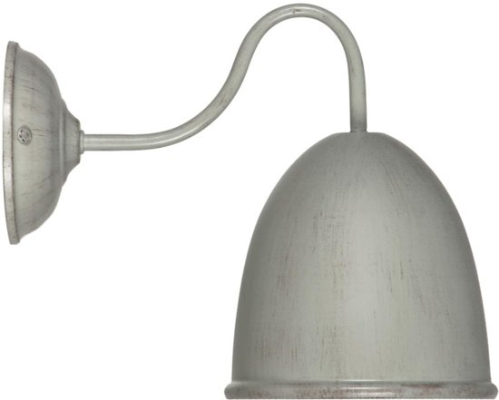 Bol linea verdace old pharmacy wandlamp s arm met grijs taupe
