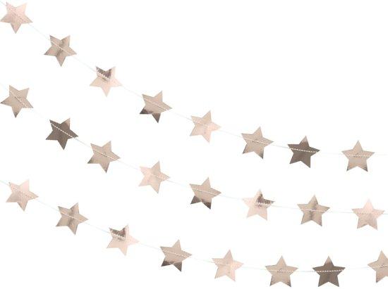 Ginger Ray Metallic Star - Ster slinger - rosé goud - 5 meter Valentinaa