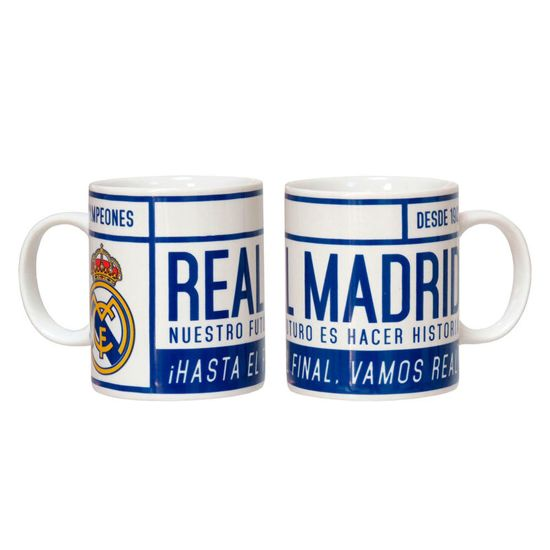 Real Madrid - Tas/Mok - Vamos Real - Blauw/Wit